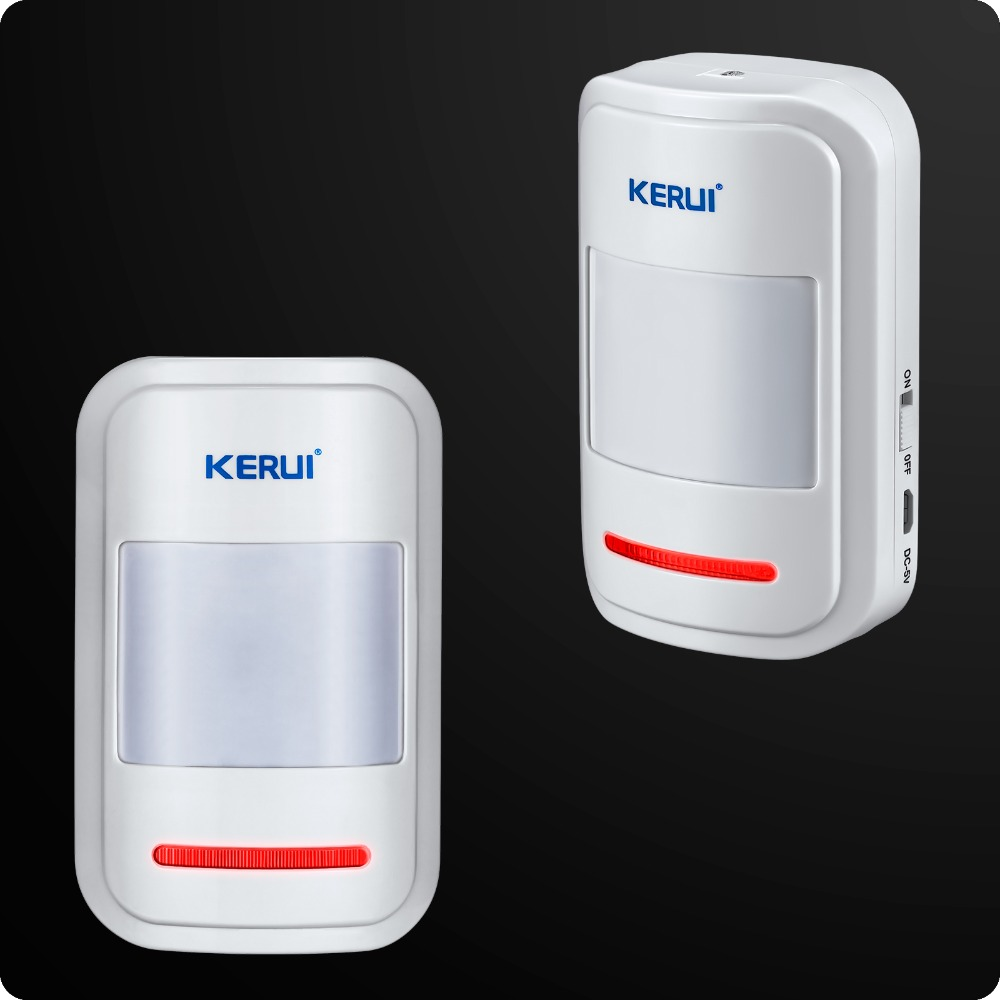 Kerui Rechargeable 5V USB 433MHz Wireless PIR Sensor Motion Detector For GSM PSTN Security Alarm System Auto Dial Alarm Kit(China (Mainland))