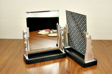 Square rotate 360 degrees hd mirror    Can tear open outfit one-way mirror   Cosmetic mirror(China (Mainland))