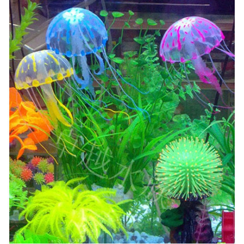 "Гаджет  5.5"" Glowing Effect Artificial Jellyfish Fish Tank Aquarium Decoration Ornament None Дом и Сад"