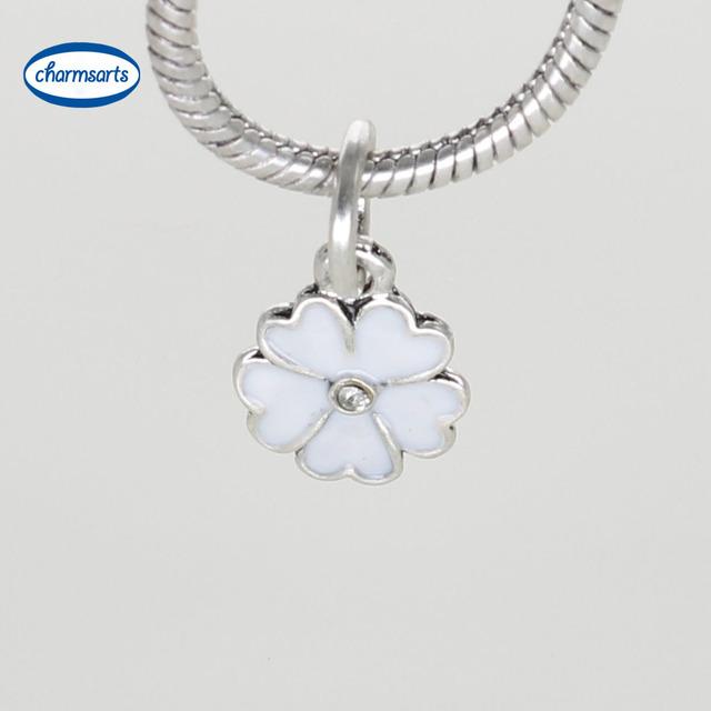 Белая эмаль сердца посеребренные подвеска для женщин DIY бусины браслеты Fit DIY ...
