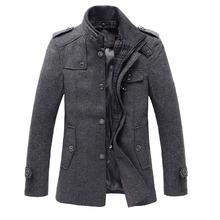2016 Cheap Mens Trench Coat Fashion Wool Long Mens Coat Winter Trench Coat Men Gabardinas Para Hombre(China (Mainland))