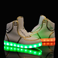 7 Colors Unisex Led Luminous Light Shoes Men Fashion USB Rechargeable Light Led Shoes for Adult