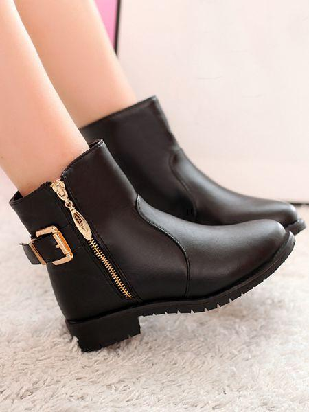 2014 martin boots single boots female spring and autumn winter boots flat heel flat female shoes boots black<br><br>Aliexpress