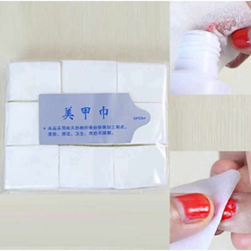 900pcs/lot Delicate Nail Tools Nail Polish Remover Nail Polish Remover Cleaner Wipe Cotton Lint(China (Mainland))