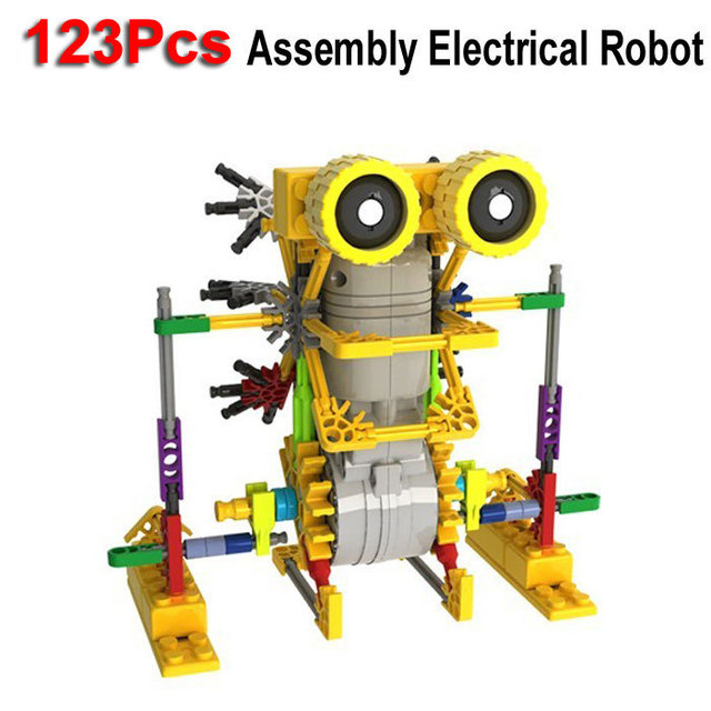 123Pcs Little Size  LOZ Electrical Robot Puzzle Assembly Bricks DIY Toy For Kids Children