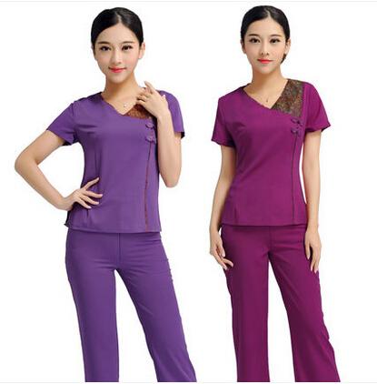 Гаджет  The 2015 summer beauty salon beautician clothing overalls pants suit suit the new S5 SPA health technicians None Изготовление под заказ