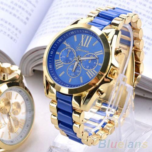 Men Watch  Fashion Geneva Stainless Steel Roman Numerals Quartz Analog WristWatches<br><br>Aliexpress