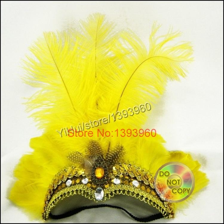 feather Indian Headdress Indian Feather wedding Headband for Carnival Jewelry wedding decoration(China (Mainland))