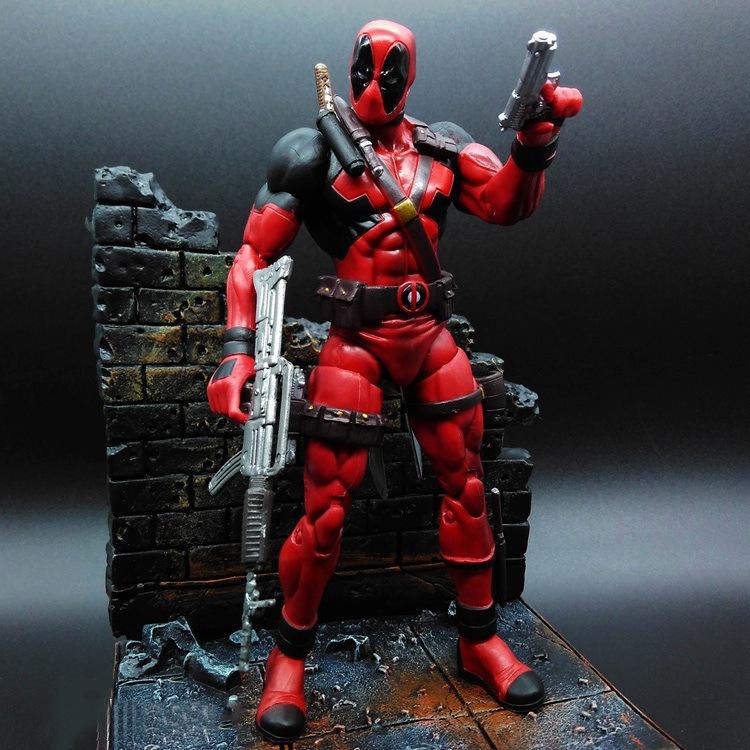 2016 Marvel Select Superhero X-Men Deadpool Action Figure Wade Wilson PVC Toy doll Christmas gift - Magic toy house store