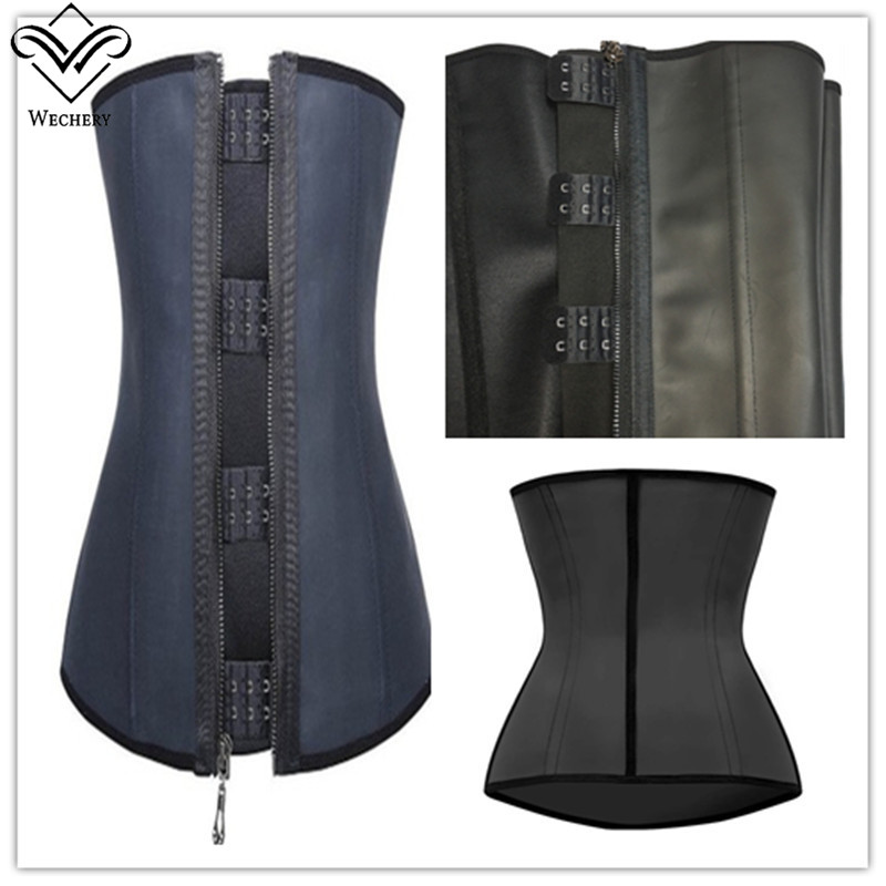 wechery latex corset black corsets and bustiers rubber gaine latex affinant la taille bustier. Black Bedroom Furniture Sets. Home Design Ideas