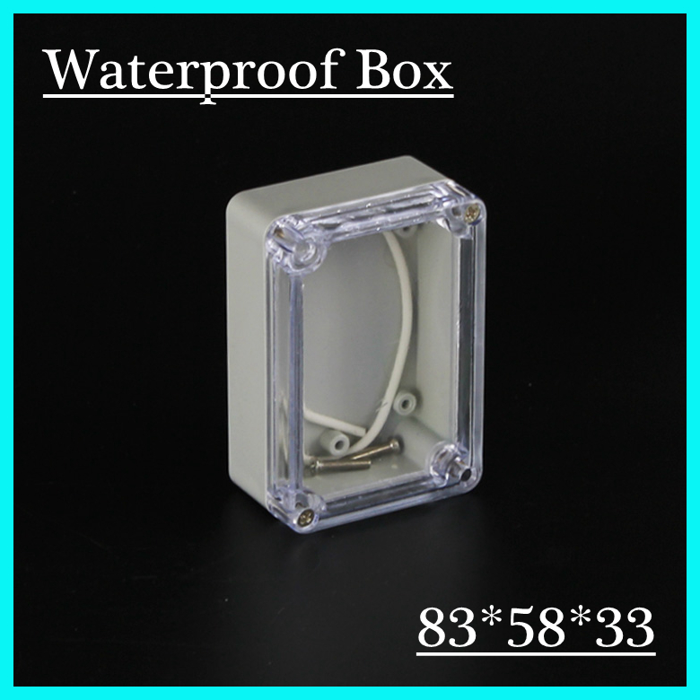 83*58*33mm Clear Cover custom electronics enclosures IP66 waterproof plastic outdoor enclosure abs diy junction box(China (Mainland))