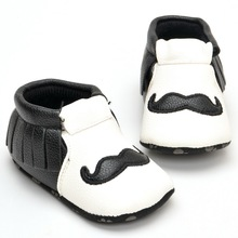 Newborn Baby Boy Girl Soft Sole PU Leather Flock First Walkers Crib Shoes 0-18 Months(China (Mainland))