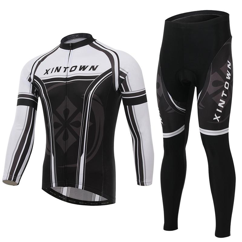 XINTOWN Star Genera New Mens Long Sleeve Cycling Jersey Winter Thermal Fleece Bike Sports Clothing Cycling Jersey Sets Breathab<br><br>Aliexpress
