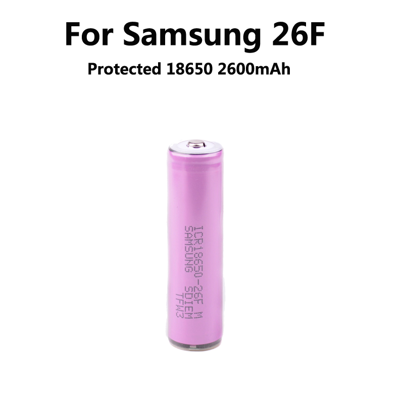 1PCS Protected 100% New Original Samsung 3.7V 18650 ICR18650-26F 2600mAh Li-ion Battery With PCB+ Free Shipping<br><br>Aliexpress