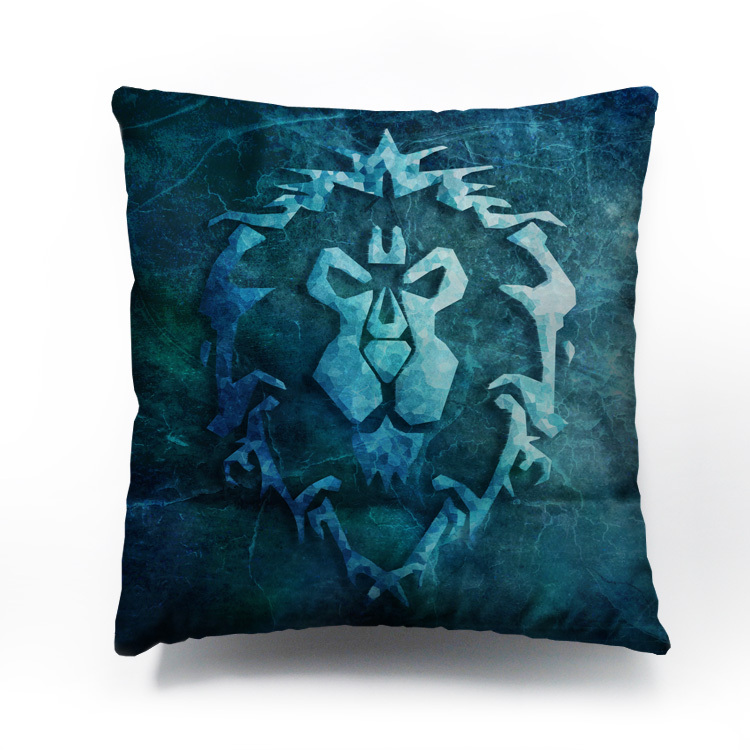 World Warcraft Alliance Cushion cover pillow case Decorative covers HD double-side Rich colors printing - Lisa's Mall store