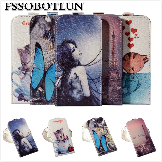Factory price,Top Cartoon Painting Vertical flip PU leather mobile phone bag case Lenovo Vibe K4 Note,gift