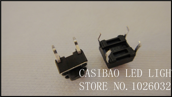 Free Shipping 100 Pcs/a Lot  6*6*5mm 4Pin Height: 5mm Dip  Button Switch Pushbutton Switch<br><br>Aliexpress