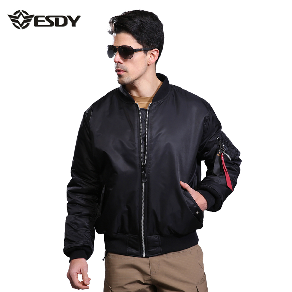 Men Bomber Jacket,ESDY Brand Clothing Mens Outdoor Jacket Army Military Militar Air Force 1 Windbreaker Veste Homme Double SidedОдежда и ак�е��уары<br><br><br>Aliexpress