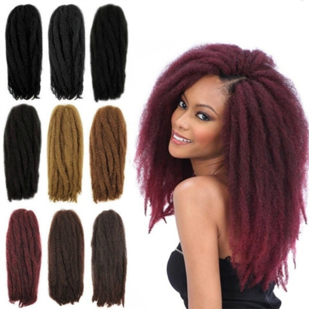 Afro Kinky Curly Twist Marley Braid Hair Extension Synthetic Kinky Crochet Hair Braid hair Synthetic Hair Extension Braid(China (Mainland))