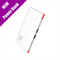 Ultra thin 10000mAh Power Bank With line Portable Charger Four Outputs Built in Lightning and Micro