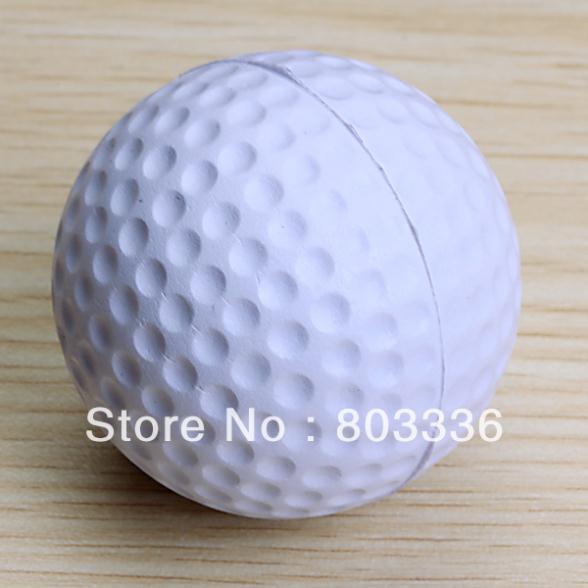 Free Shipping PU Golf Ball Golf Training Soft Foam Balls Practice Ball - White(China (Mainland))