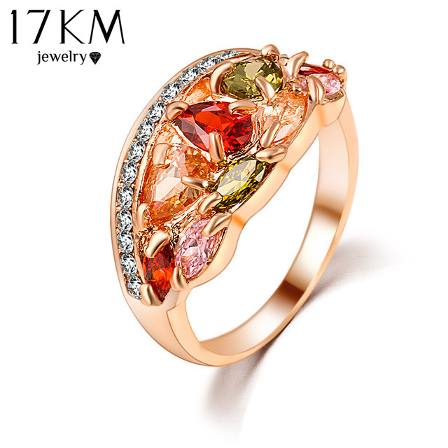 brand austrian ring anel gold plated flower