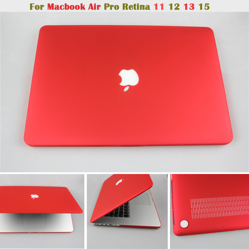 NEW Matte Case For Apple macbook Air Pro Retina 11 12 13 15 inch laptop bag Cover For Mac book Pro 13 case with cut logo