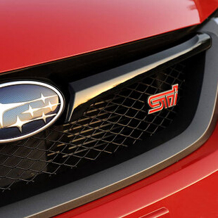 Free shipping Car Styling STI Front Grille Sticker Emblem Badge STI For SUBARU LEGACY Forester Outback Rally WRX WRC Impreza(China (Mainland))