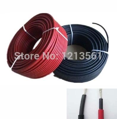 MC4 черный красный pv Солнечный кабеля
