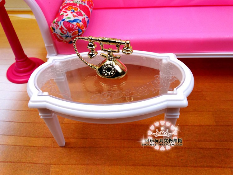 Free Delivery Lady birthday present plastic Play Set Lounge couch furnishings equipment for barbie doll,ladies diy toys