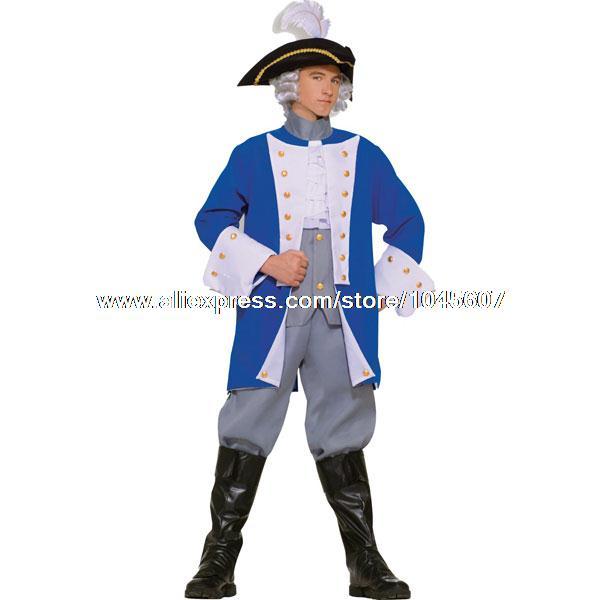 Colonial General Adult Costume Cosplay Costumes anime halloween Christmas Free Shipping(China (Mainland))