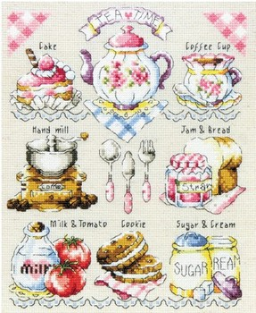 Counted Cross Stitch 14CT Canvas European Pattern West Tableware Cartoon Cross-stitch Embroidery Set Needlework With Sewing Kit