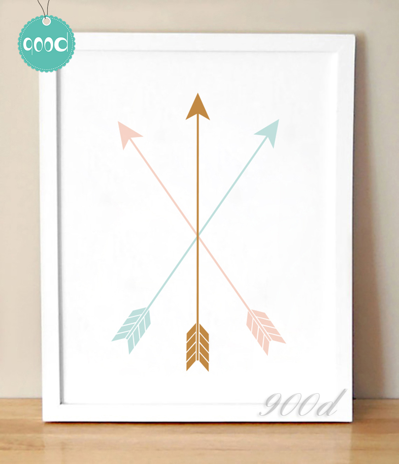 Buy Colourful Arrow Canvas Art Print Painting Poster Wall Pictures For Home
