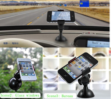 2014 New Universal 360 Degree Car Mount Holder Bracket for Samsung Galaxy S2 S3 for HTC for iPhone 4 4S #22960