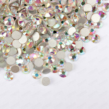 Buy Free Shipping! 1440pcs/Lot, ss3 (1.3-1.5mm) Crystal AB /Clear AB Flatback  (Nail Art ) Non Hot Fix Glue Glass Rhinestones for $1.32 in AliExpress store