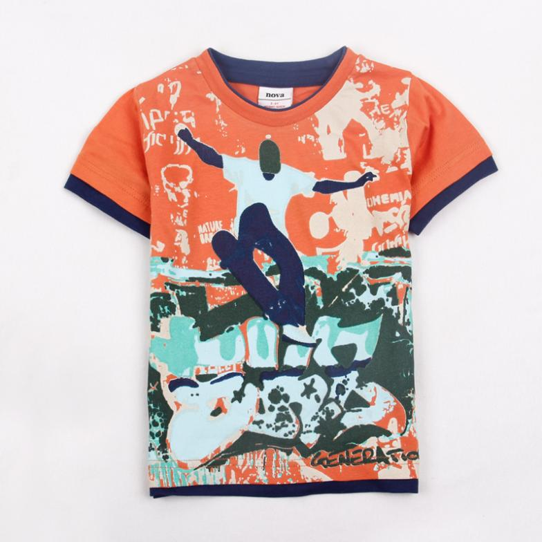 Children t shirts new fashion NOVA kids wear 2014 new fashion baby boys clothing fit summer short sleeve T-shirts for boys<br><br>Aliexpress