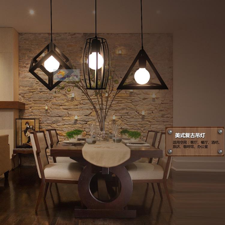Geometry Retro Bar Loft Industrial Lights Creative Bedroom & Creative Bedroom Lighting - Democraciaejustica