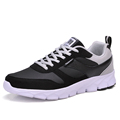 New Men s casual sport shoes men flat Trainers round toe Male Non slip lace up
