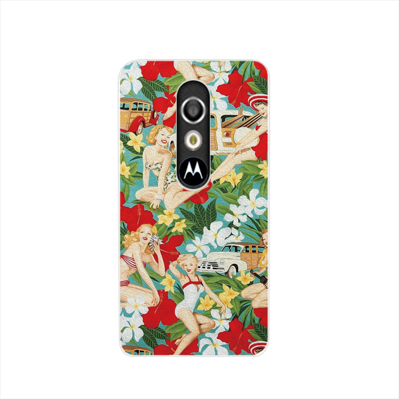 16521 Aloha Girls fabric cell phone case cover for For Motorola Moto G3 G4 X+1 PLAY PLUS ONE style(China (Mainland))