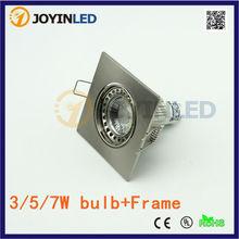 Recessed led ceiling down light holders /fixtures Frame Zinc Alloy GU10 MR16 gu5.3 e27 spotlight fittings(China (Mainland))