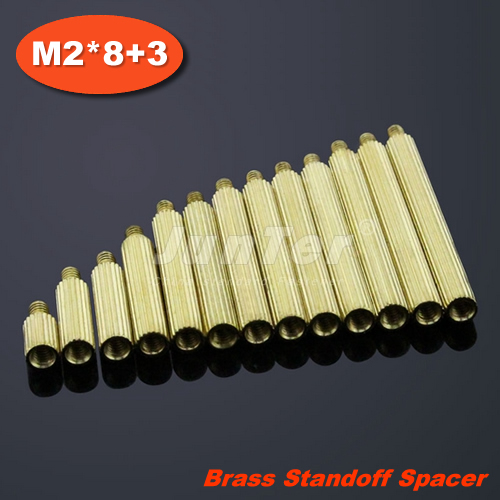 500pcs/lot Brass Standoff Spacer M2 Male x M2 Female -8mm (Free Shipping)<br><br>Aliexpress