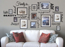 Бесплатная доставка семья виниловые надписи цитатой стены искусства / Декор / семейный номер / стикер