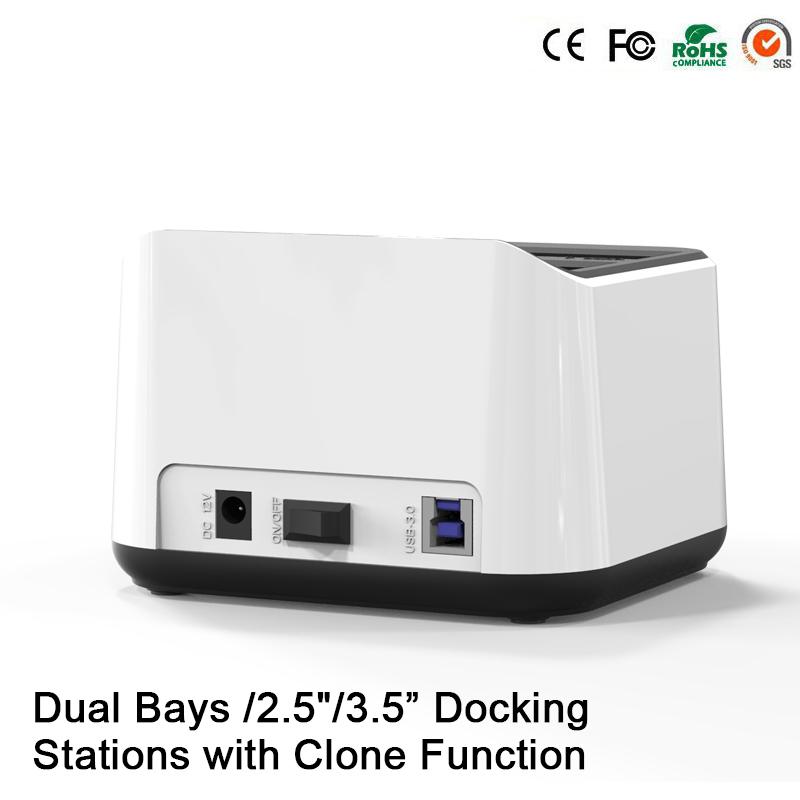 12TB Reading Capacity Enclosure for Hdd 2-Bay Sata Dual usb 3.0 case External Hard Drive Storage Dock Station Hdd Box(China (Mainland))