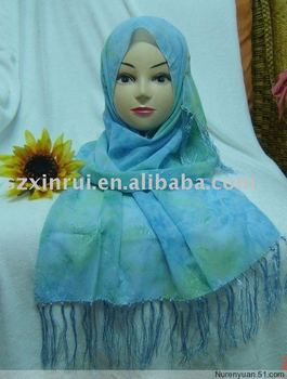 Islamic polyester scarf,oblong scarf