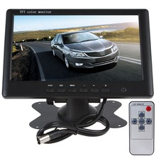 "Car Monitor High Resolution 7"" TFT LCD 800 x 480 PAL / NTSC System Rearview Mirror 16:9 Screen DC 12V 24V for DVD Camera VCR(China (Mainland))"
