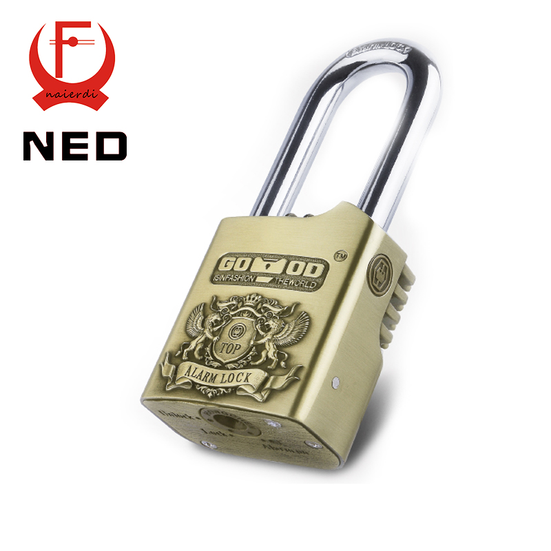 NED AL50 Waterproof Siren Alarm Padlock 110dB Security Lock Disc Brakes Bicycle Smart Locks For Home Motorcycle Bike Scooter(China (Mainland))