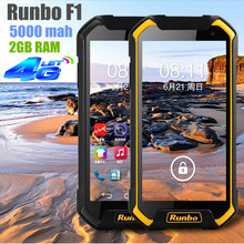 Original Runbo F1 Octa Cores Waterproof Phone 5000MAH IP67 5.5inch FDD-LTE 2G RAM Android 4.4 MTK6752 1.5GHZ 13.0MP Front 5.0MP(China (Mainland))