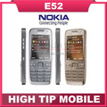 Russian keyboard support Nokia E52 cellular 3G phone Unlocked original 3 2MP Camera Refurbished 1 year
