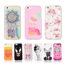 For iphone6 Case Cartoon Printed Gel Silicone Soft TPU Phone Case For Apple iphone 6 6S 6G 4.7″ Back Skin Phone Protective Cover