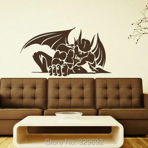 Removable Vinyl Wall Decor : Free shipping stylish removable vinyl devil swing art wall